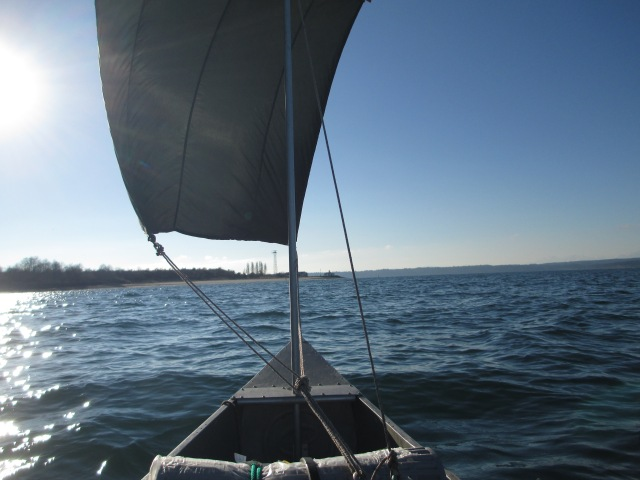 Canoe with a Downwind Sail