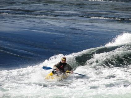 Kayak in Skookumchuck Rapids