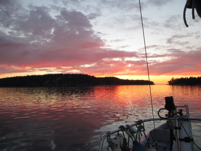 Sunset in Roche Harbor