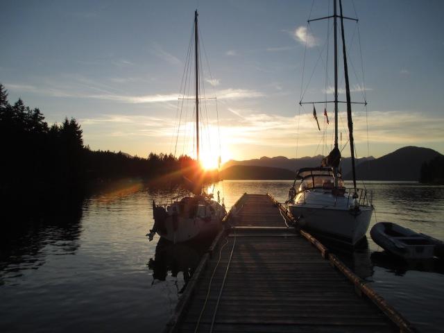 Sunset in Egmont, BC copy